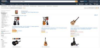 Gitarre kaufen auf Amazon