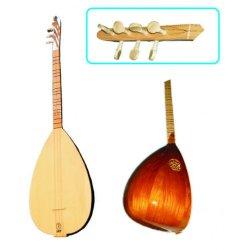 Türkische Gitarre Baglama Holzwirbel Kurzhals