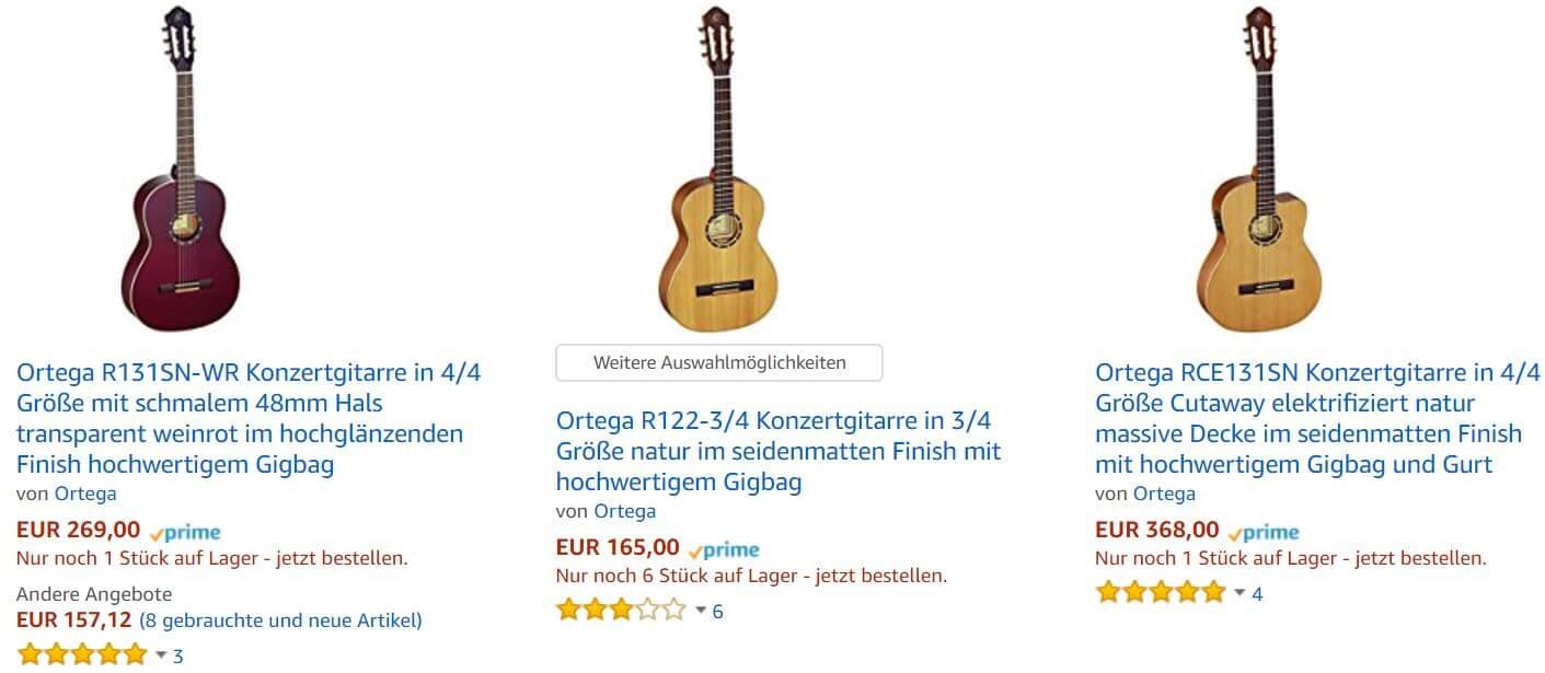Ortega Konzertgitarre kaufen wie die R121