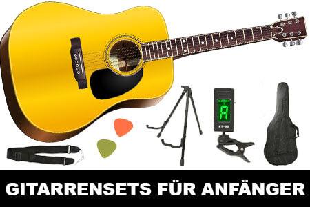 Akustikgitarrenset für Anfänger mit viel Zubehör