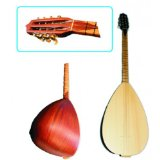 Türkische Gitarre - Baglama mit Gitarrenmechaniken