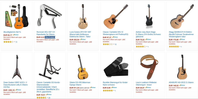 Gitarren günstig kaufen