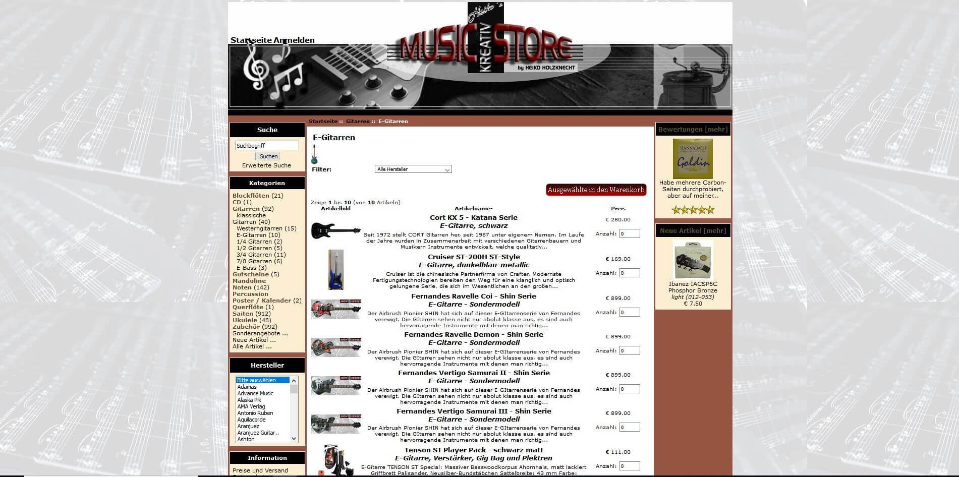 Gitarrenladen München Heikos kreativ music store