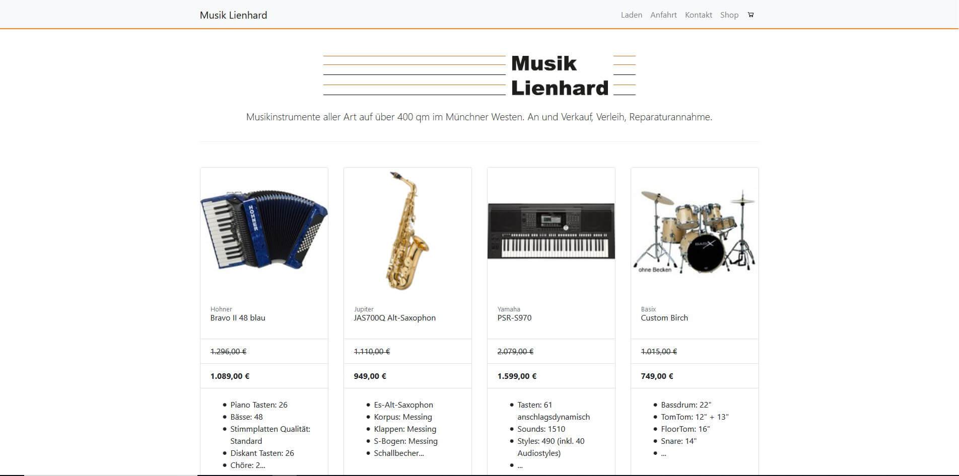 Gitarrenladen München Musik Lienhard