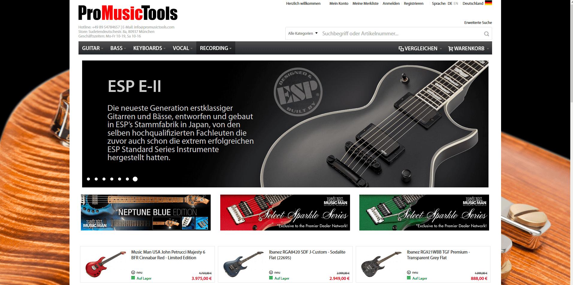 Gitarrenladen München ProMusicTools