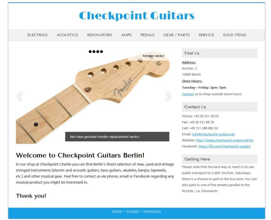 Girarre Kaufen Berlin CHekpointguitars Gitarrenladen