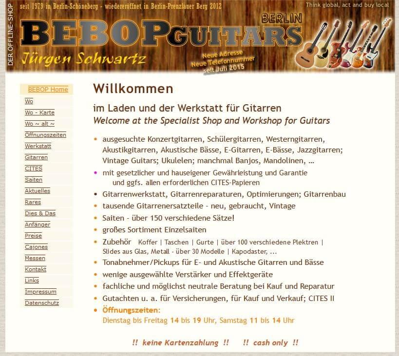 Gitarre Kaufen Berlin Bebopguitars Gitarrenladen