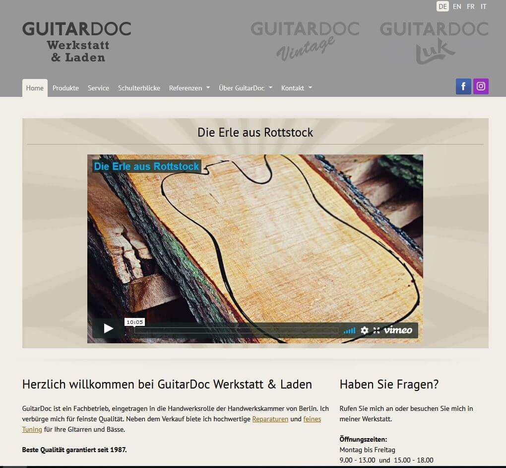 Gitarre Kaufen Berlin Guitardoc Gitarrenladen