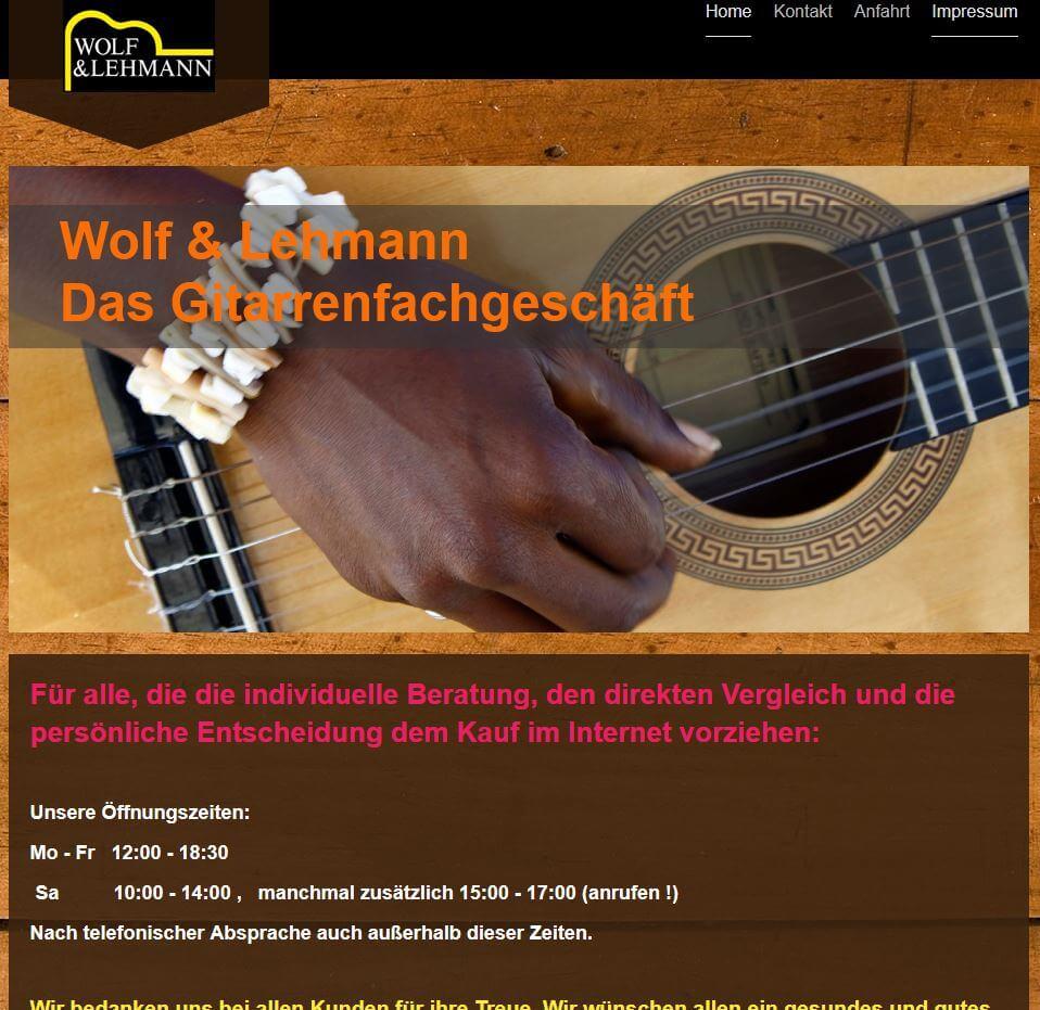 Gitarre Kaufen Berlin Wolf und Lehman Gitarrenladen
