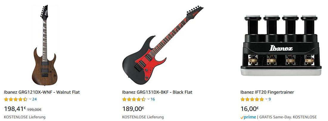 Ibanez Gitarre kaufen auf Amazon