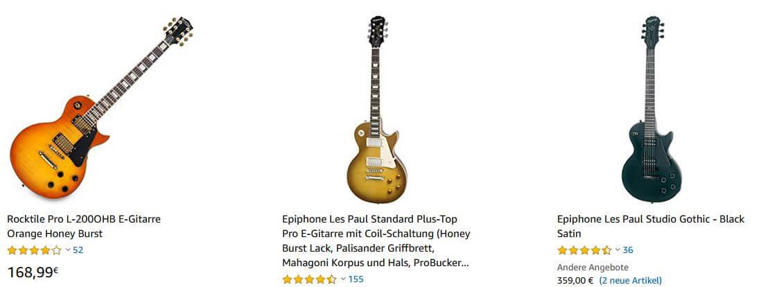 Les Paul Gitarren kaufen auf Amazon