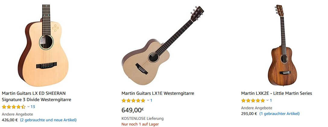 Martin Guitars - Gitarre kaufen auf Amazon